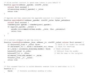 Ejemplo de código de contrato inteligente