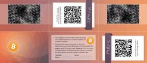 Ejemplo de cartera bitcoin en papel