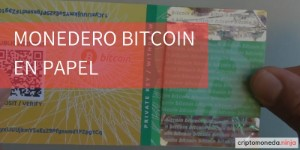 Monedero bitcoin en papel