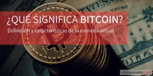 Qué significa bitcoin