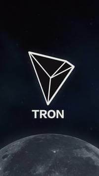 Fondo pantalla para móvil de la criptomoneda TRON