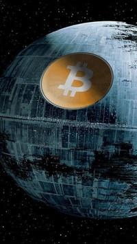 Fondo de pantalla para teléfono móvil de bitcoin